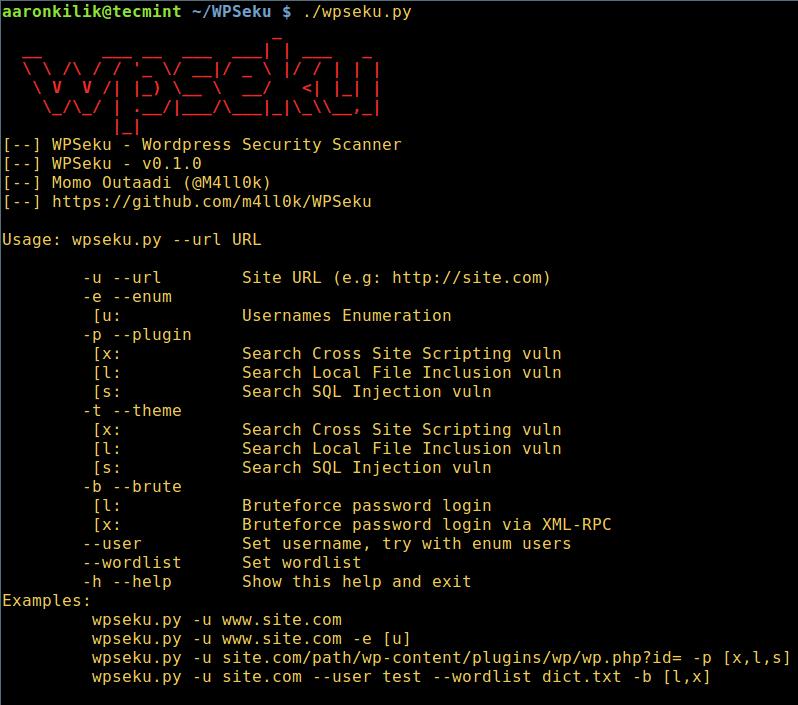 WPSeku - A Vulnerability Scanner to Find Security Issues in