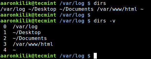 Dirs - Display Directories in Directory