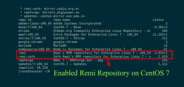Enable Remi Repository on CentOS