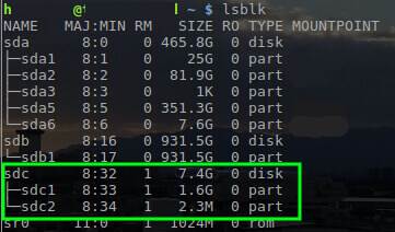 Find Device Name in Linux
