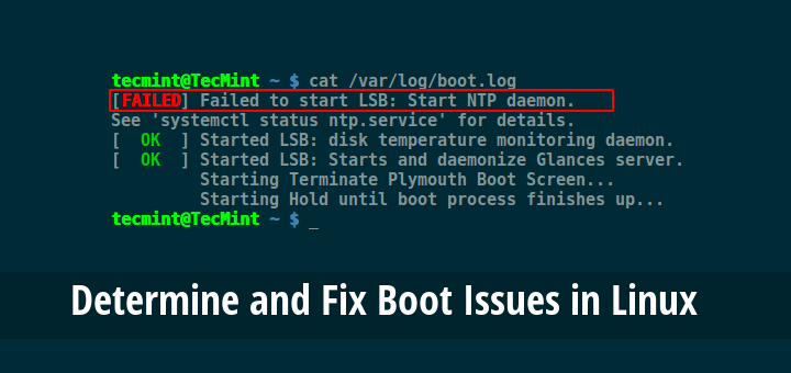 Fix Linux Boot Issues
