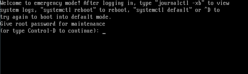 Linux Emergency Mode