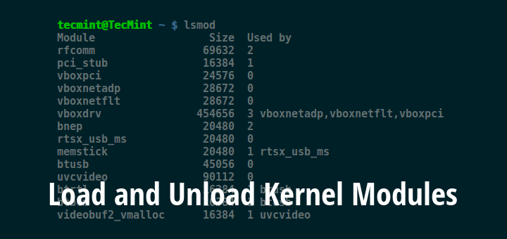 Load and Unload Kernel Modules
