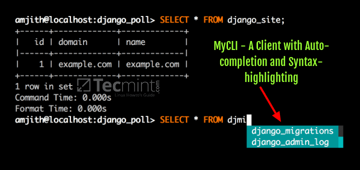 MyCLI - A MySQL/MariaDB Client with Auto-completion and