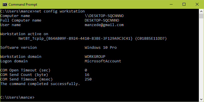 Verify Windows WorkGroup