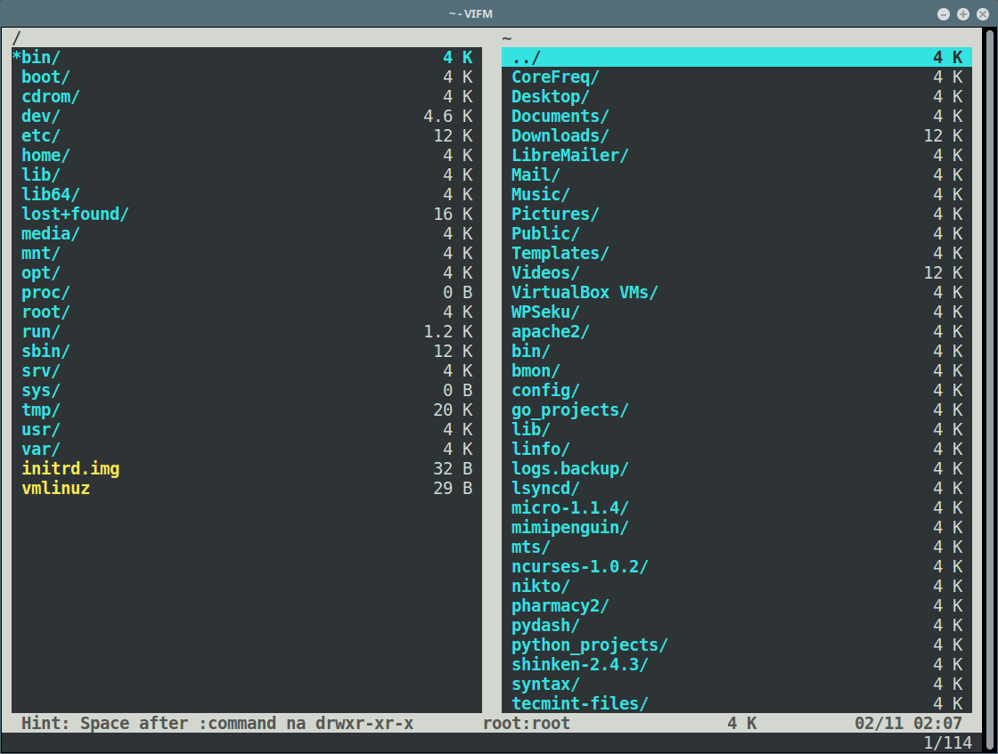 Vifm Commandline File Manager