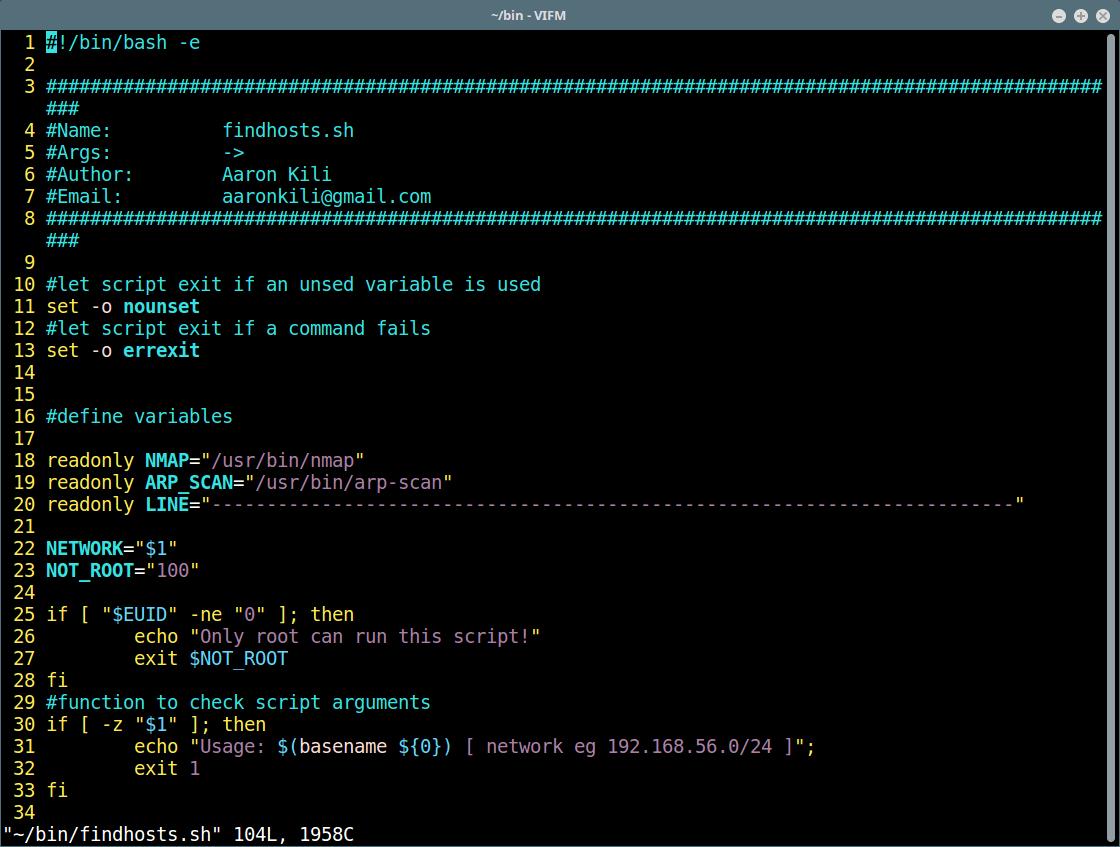 Vifm - Open File for Editing in Vi