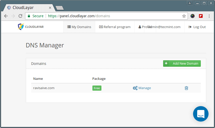 Website DNS Manager
