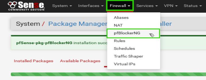 pfBlockerNG Configuration