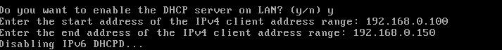 pfSense DHCP Configuration