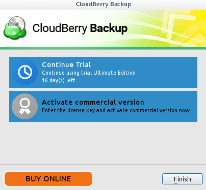 CloudBerry Backup Trial Version