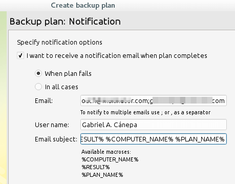 Cloudberry Backup Notifications