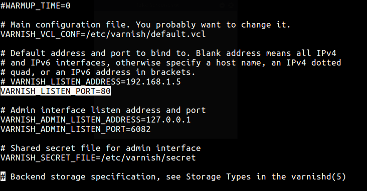 Configure Varnish Cache