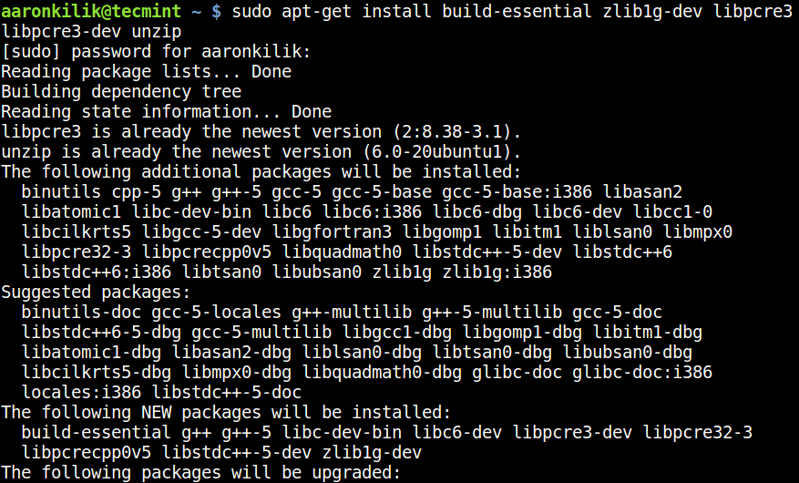 Install Build Essential Tools on Ubuntu