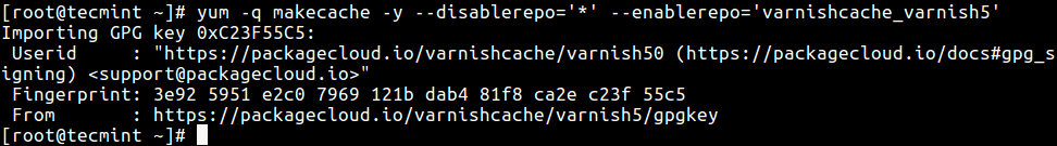 Install Varnish Cache
