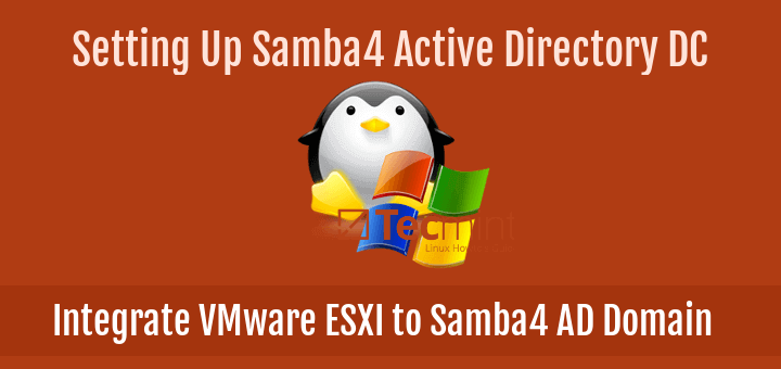 Integrate VMware ESXI to Samba Domain
