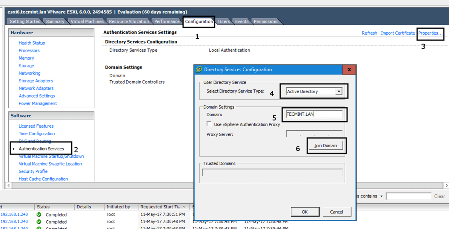 Join VMware ESXI Hypervisor to Samba