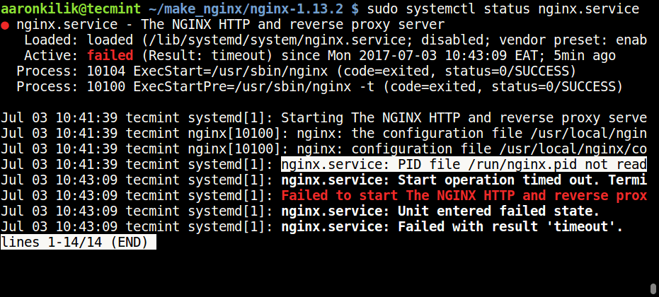 Nginx Failed to Start Error