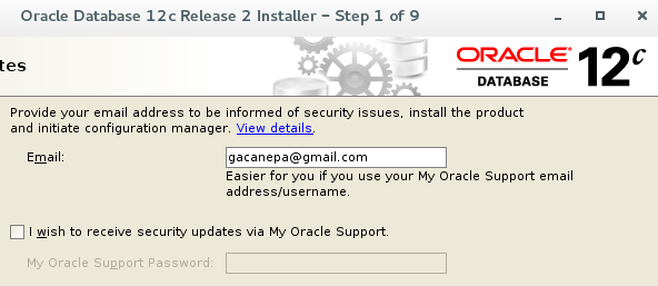 Oracle Account Email Address
