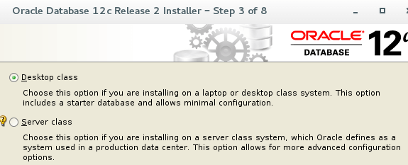 Oracle Desktop Class Installation