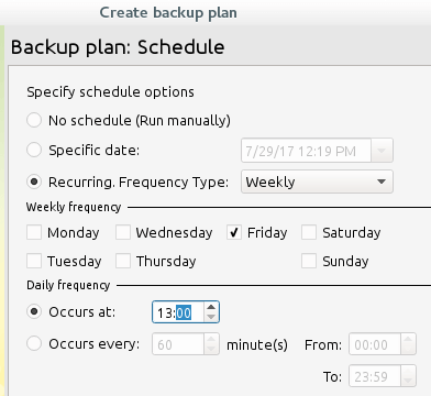 Schedule Cloudberry Backup