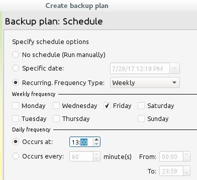Schedule Cloudberry Backup