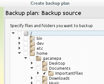 Select CloudBerry Backup Files