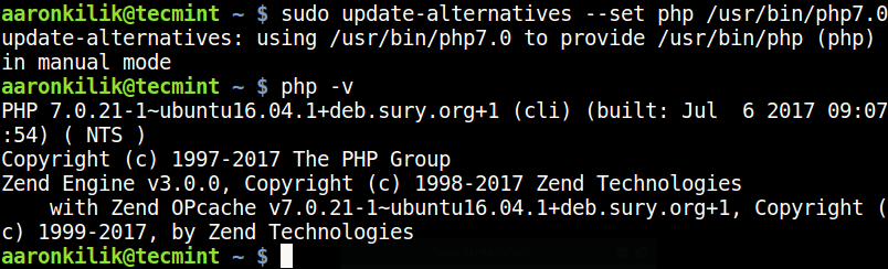 Set PHP 7.0 Version in Ubuntu