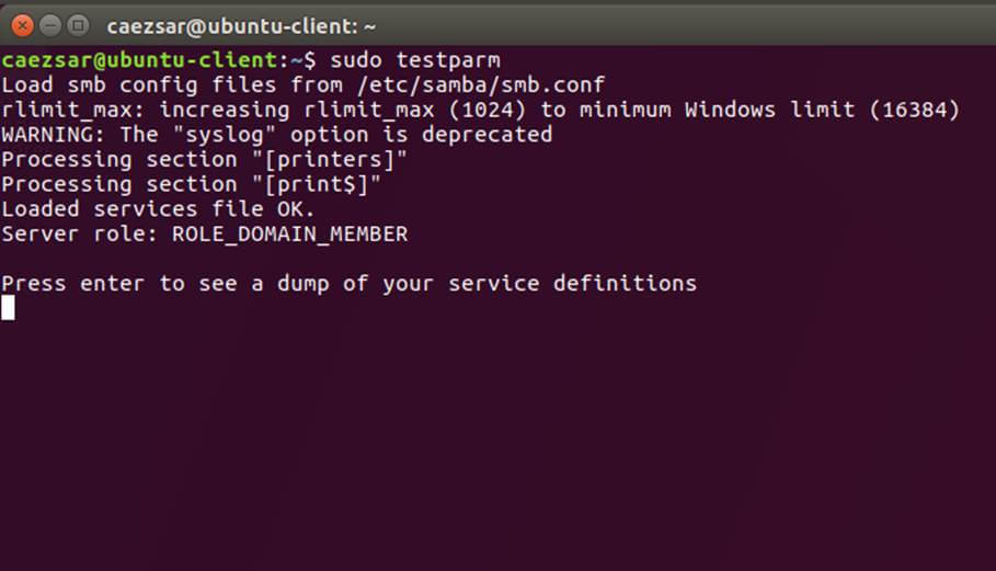 Test Samba Configuration