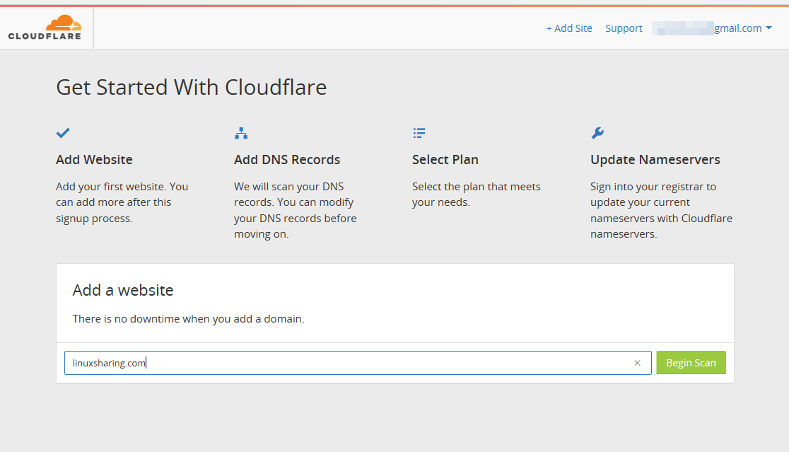 Add WordPress to CloudFlare CDN