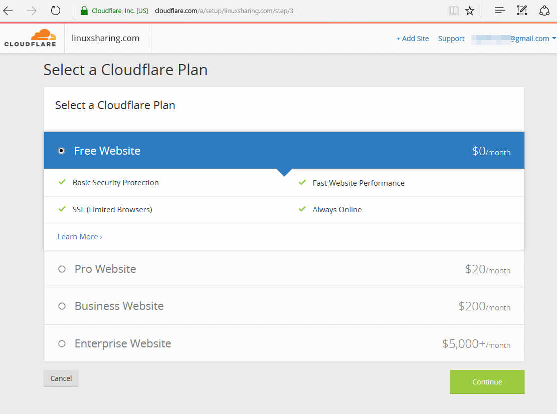 CloudFlare Plan for WordPress