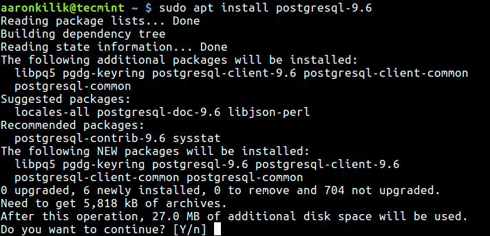 Install Postgresql Database Server