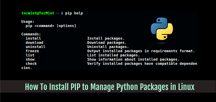 How To Install PIP to Manage Python Packages in Linux