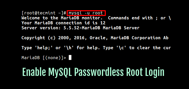 Connect Mysql Without Root Password