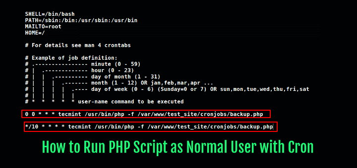 Run PHP Script as User via Cron