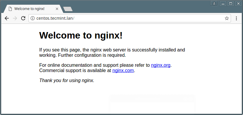 Test Nginx Installation