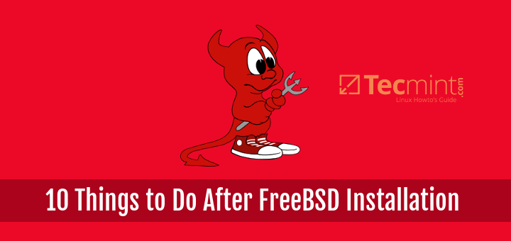 Things To Do After FreeBSD Installation