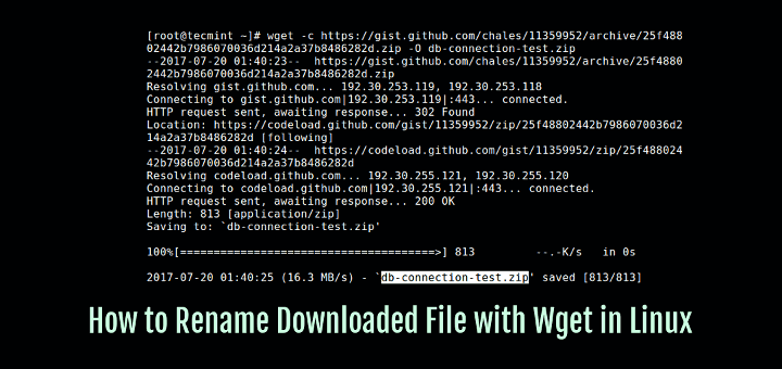 Wget Rename Download File