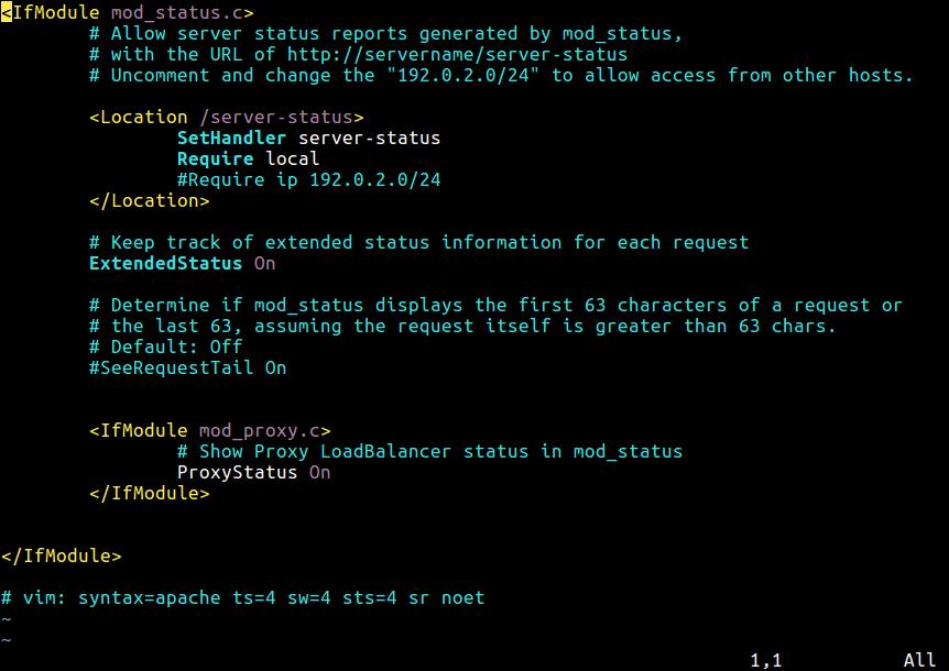 Apache Core Features