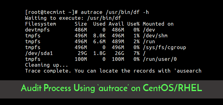 Audit Linux Process Using Autrace