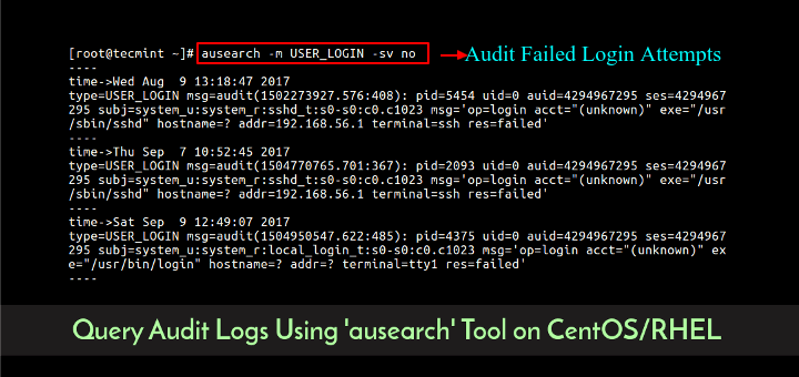 How to Query Audit Logs Using 'ausearch' Tool on CentOS/RHEL