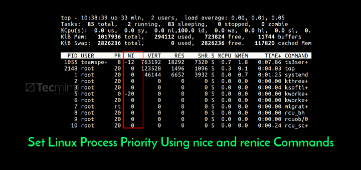 Set Linux Process Priority Using nice and renice