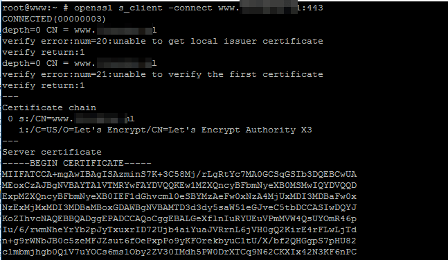 Check SSL Certificate