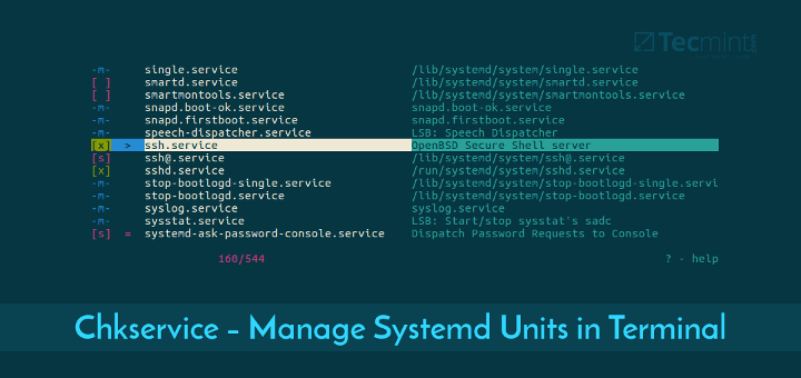 Chkservice Manage Systemd Units
