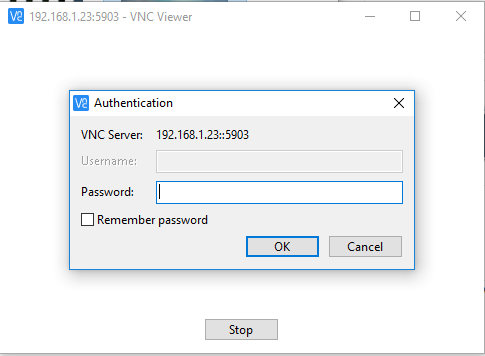Connect to VNC Remote Desktop