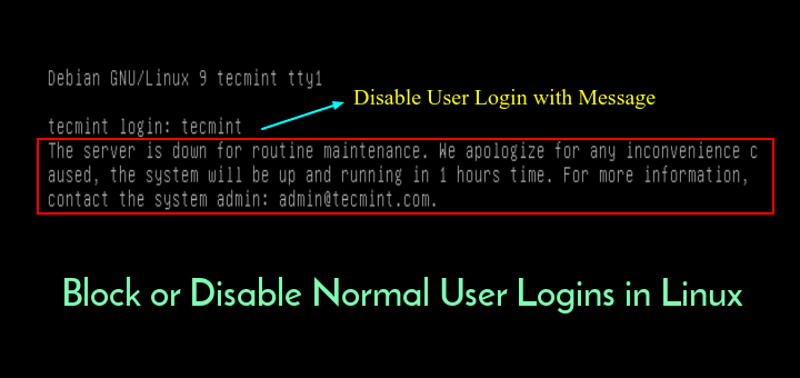 Disable User Login in Linux