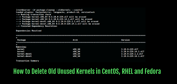 Remove Old Kernels in CentOS