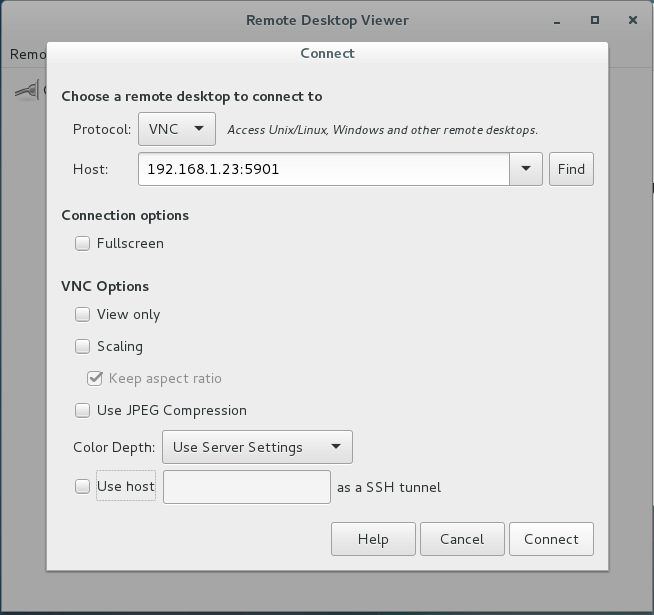 Select Remote Desktop Protocol