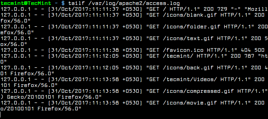 Real Time Apache Logs Monitoring
