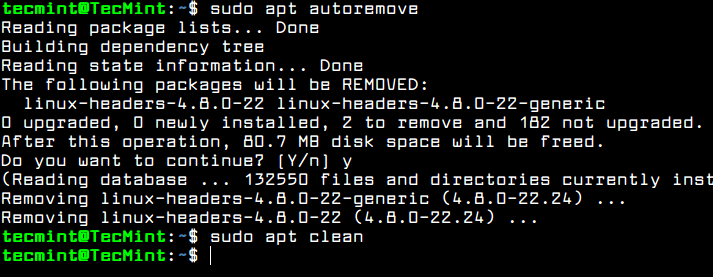 Autoremove APT Packages and Cache